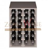 Botellero blanco apilable para 24 botellas casa o bodega-EW2014