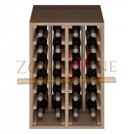 Botellero apilable en roble para 24 botellas casa o bodega-ER2014