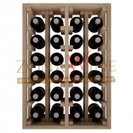 Botellero en madera de roble para 24 botellas casa o bodega-ER2014