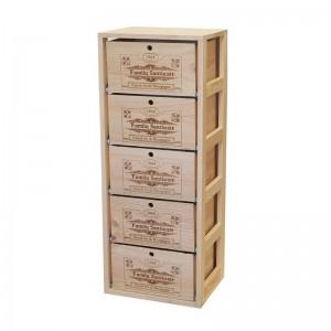 Soporte con 5 cajas de vino...