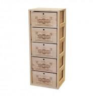 Estantería con Cajas de vino con logos personalizables. 105x41x32 fondo