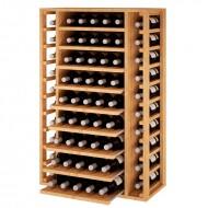 Botellero Madera Baldas Extraibles  para 65 botellas