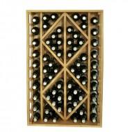 Botellero de madera 2 diamantes  decorativos para 68 botellas.