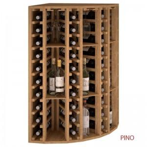 Botellero Rincón licores y vinos con soporte de copas. Alto 105x63x63