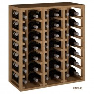 Botellero Madera Apilable para 42 Botellas de Vino o Cava.