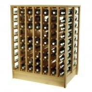 Botellero Isla EX2067 en madera para 126 botellas y acceso por ambas caras
