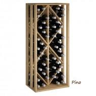 Estético Botellero de madera de Pino/Roble-2 Rombos para 48 botellas. Alto 105/46/32 cm fondo