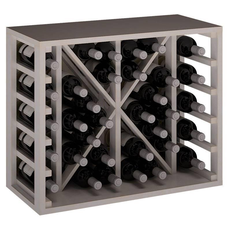 Botellero Modular En Madera Con División Para 34 Botellas Alto 54x46x32 Fondo