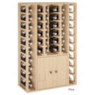 Armario botellero con puertas para accesorios vino y 44 botellas|EX2516