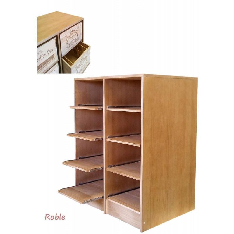 Estanter a en roble cajas de vino de 12 botellas zr2545 - Estanterias para vino ...
