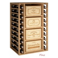 Estantería Botellero  para cajas de vino de madera. El botellero mide: 105/68/58 cm fondo