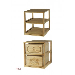Estante para 2 cajas madera...
