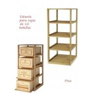 Estantería Botellero para cajas de vino de madera |EX2564