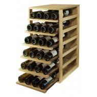 Estantería botellero con 6 baldas extraibles para 42 botellas