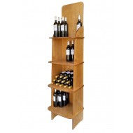 Expositor Profesional CA4775 para Vinos y Gourmet 75 Botellas. Logo Personalizable 180/49/38 cm fondo