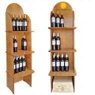 Expositor CB4775 Profesional para Vinos y Gourmet-54 Botellas- Logo personalizable- Medidas :170/49/38 cm fondo