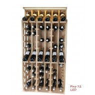 Expositor profesional de madera y con LED para 72 botellas EX2268