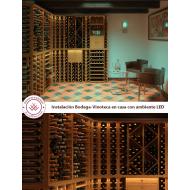 Instalación bodega vinoteca Ejemplo con LED