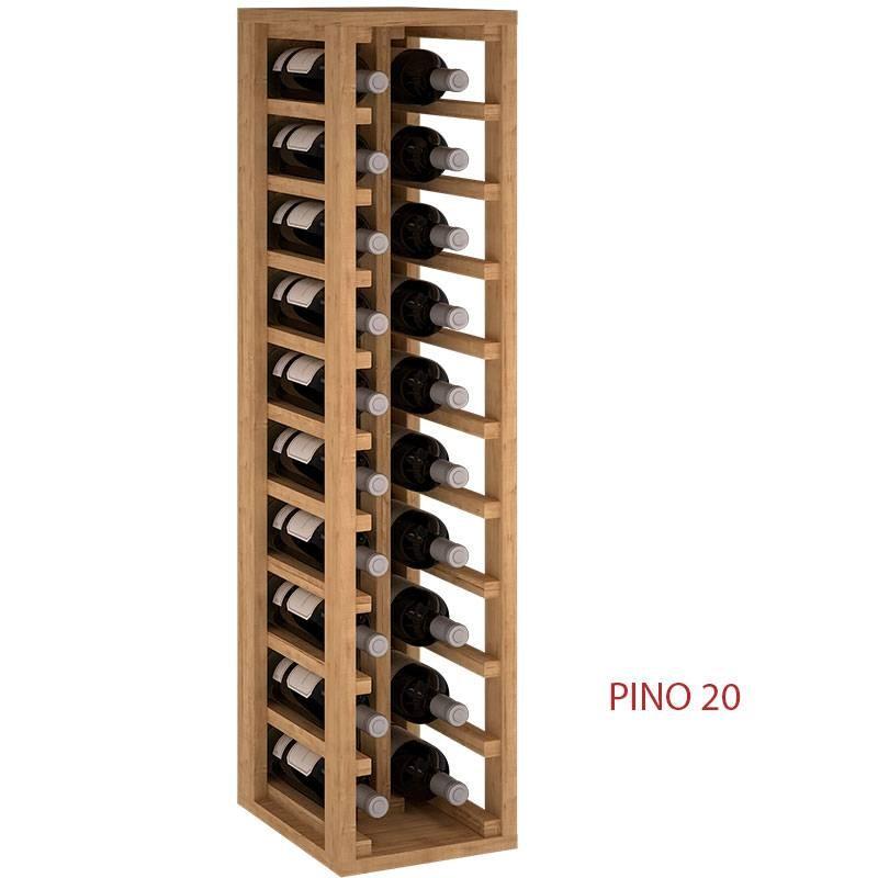 Botellero 2 Columnas En Madera De Pino O Roble Para 20 Botellas Medidas 105 24 32 Cm