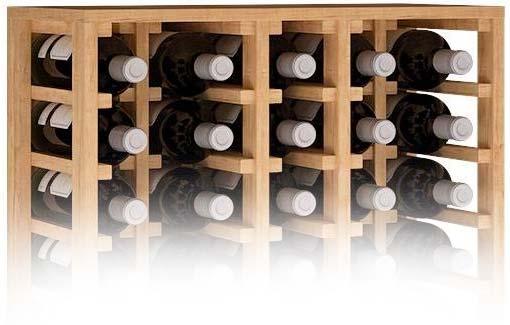 Botellero de madera para guardar vino